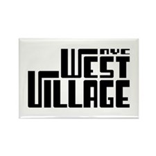 West Village NYC Rectangle Magnet