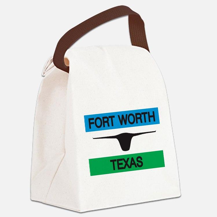 Fort Worth Flag Canvas Lunch Bag
