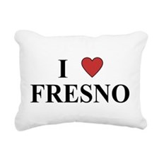 I Love Fresno Rectangular Canvas Pillow