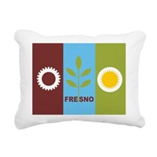 Fresno Flag Rectangular Canvas Pillow