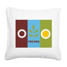 Fresno Flag Square Canvas Pillow