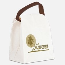 Palm Tree Havana Canvas Lunch Bag