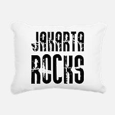 Jakarta Rocks Rectangular Canvas Pillow