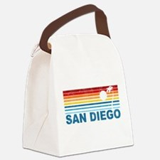 Palm Tree San Diego Canvas Lunch Bag