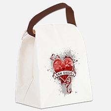 Heart San Diego Canvas Lunch Bag