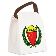 Stylized Shanghai Canvas Lunch Bag