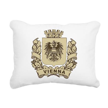 Stylized Vienna Crest Rectangular Canvas Pillow