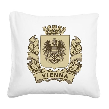 Stylized Vienna Crest Square Canvas Pillow