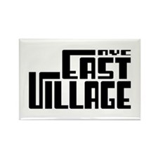 East Village NYC Rectangle Magnet