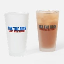 Tax the rich Drinking Glass