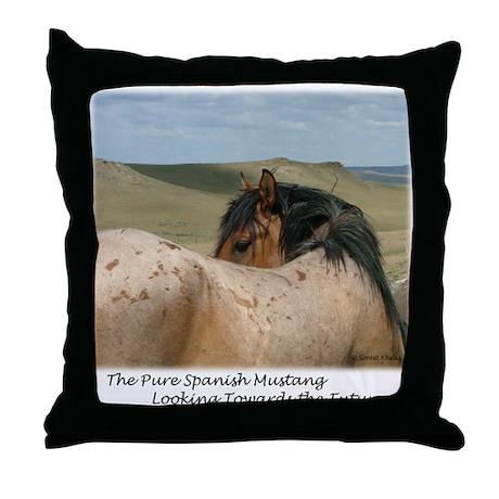 Roan Spanish Mustang Stallion Throw Pillow
