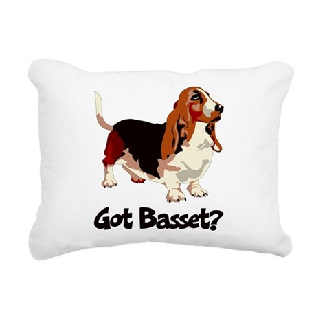 Got Basset? Rectangular Canvas Pillow