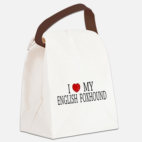 Love English Foxhound Canvas Lunch Bag