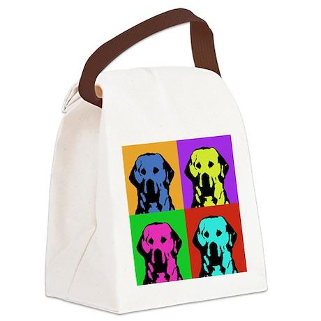 Andy Warhol Golden Retriever Canvas Lunch Bag