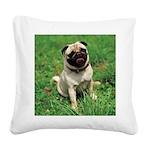 Cute Pug Square Canvas Pillow
