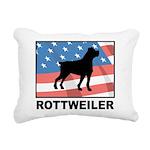 Patriotic Rottweiler Rectangular Canvas Pillow