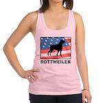 Patriotic Rottweiler Racerback Tank Top