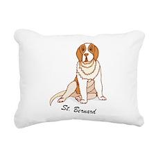 St. Bernard Rectangular Canvas Pillow