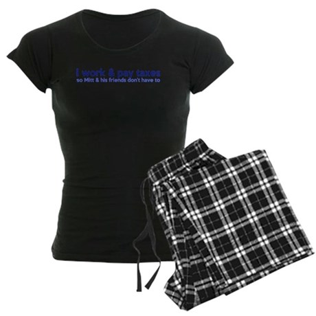 Working Class Taxes Women's Dark Pajamas