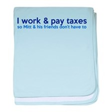 Working Class Taxes baby blanket
