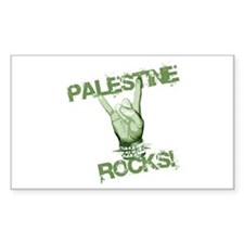 Palestine Rocks! Rectangle Decal