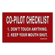 Co-Pilot Checklist Rectangle Decal