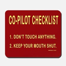 Co-Pilot Checklist Mousepad