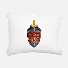 KGB Emblem Rectangular Canvas Pillow
