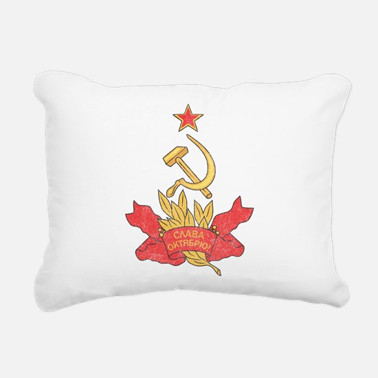 Vintage Soviet Rectangular Canvas Pillow