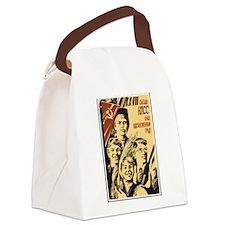 Soviet Poster Art Canvas Lunch Bag