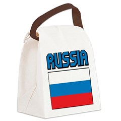 Russia Flag Canvas Lunch Bag