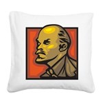 Lenin Square Canvas Pillow