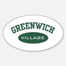 Greenwich Village Oval Decal
