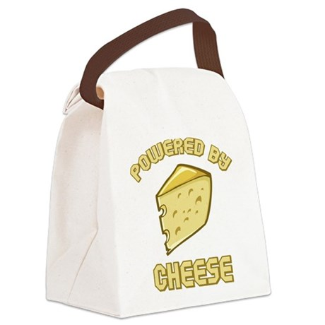Powered By Cheese Canvas Lunch Bag