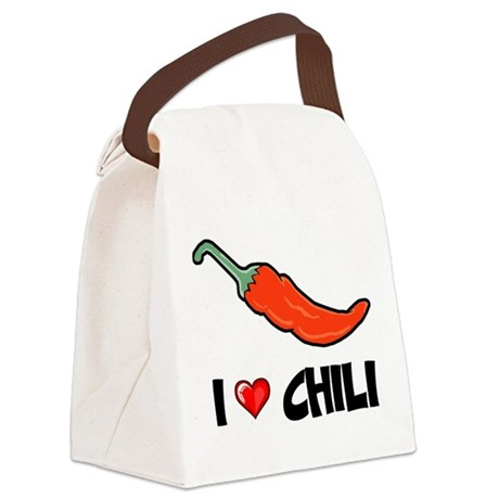 I Love Chili Canvas Lunch Bag