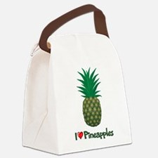I Love Pineapples Canvas Lunch Bag