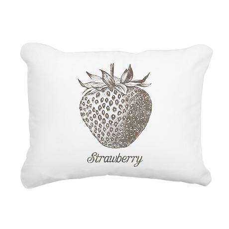 Vintage Strawberry Rectangular Canvas Pillow