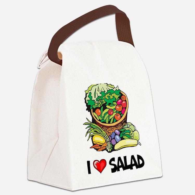 I Love Salad Canvas Lunch Bag