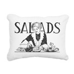 Retro Salad Rectangular Canvas Pillow