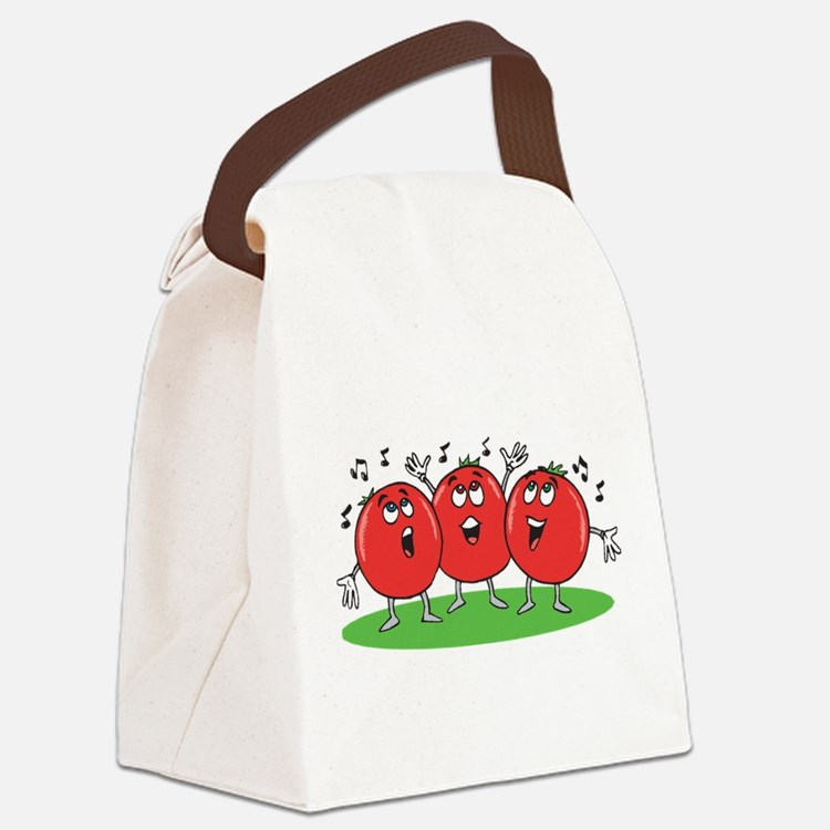 Singing Tomatoes Canvas Lunch Bag