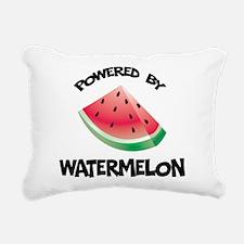 Powered By Watermelon Rectangular Canvas Pillow
