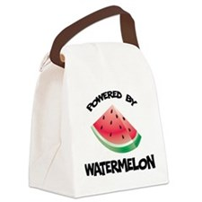 Powered By Watermelon Canvas Lunch Bag