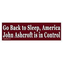 Go Back to Sleep Bumper Bumper Sticker