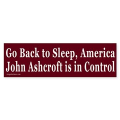 Go Back to Sleep Bumper Bumper Sticker