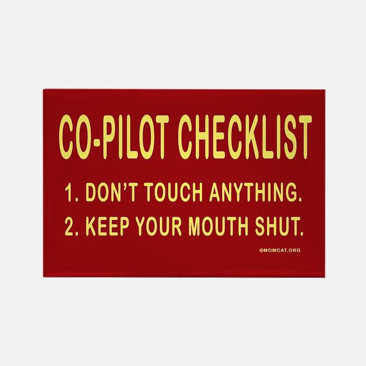Co-Pilot Checklist Rectangle Magnet