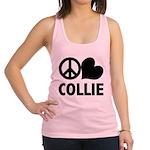 FIN-peace-love-collie.png Racerback Tank Top