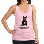 FIN-french-bulldog-best-friend.png Racerback Tank