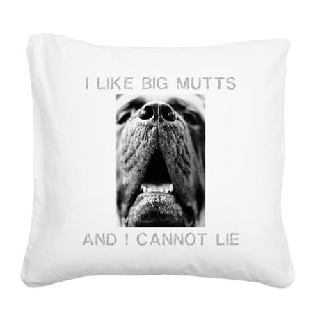 FIN-big-mutts-photo.png Square Canvas Pillow