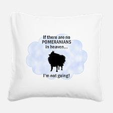 FIN-pomeranians-hea... Square Canvas Pillow