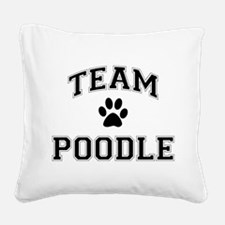 Team Poodle Square Canvas Pillow
